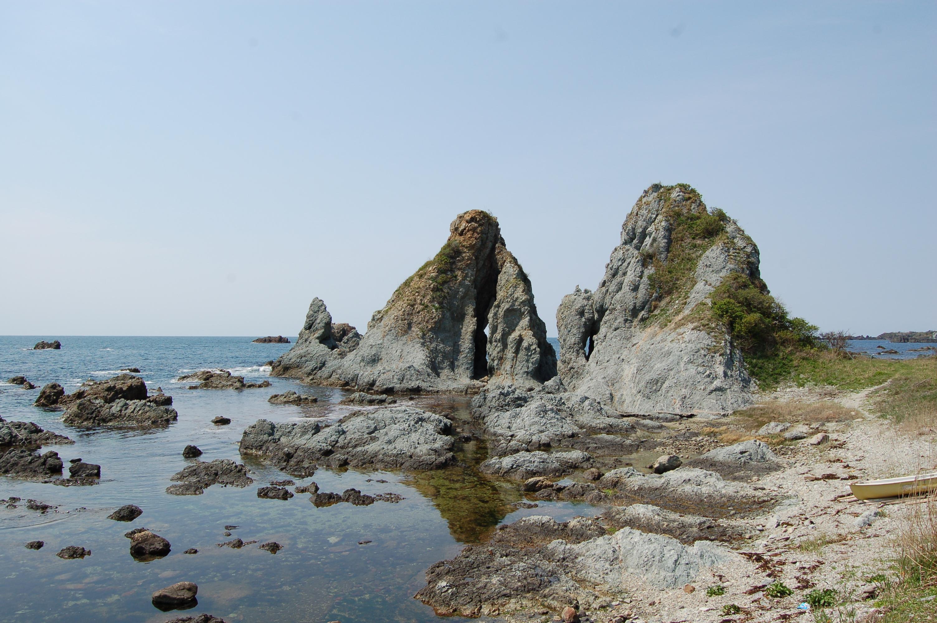 佐渡七浦海岸の塩
