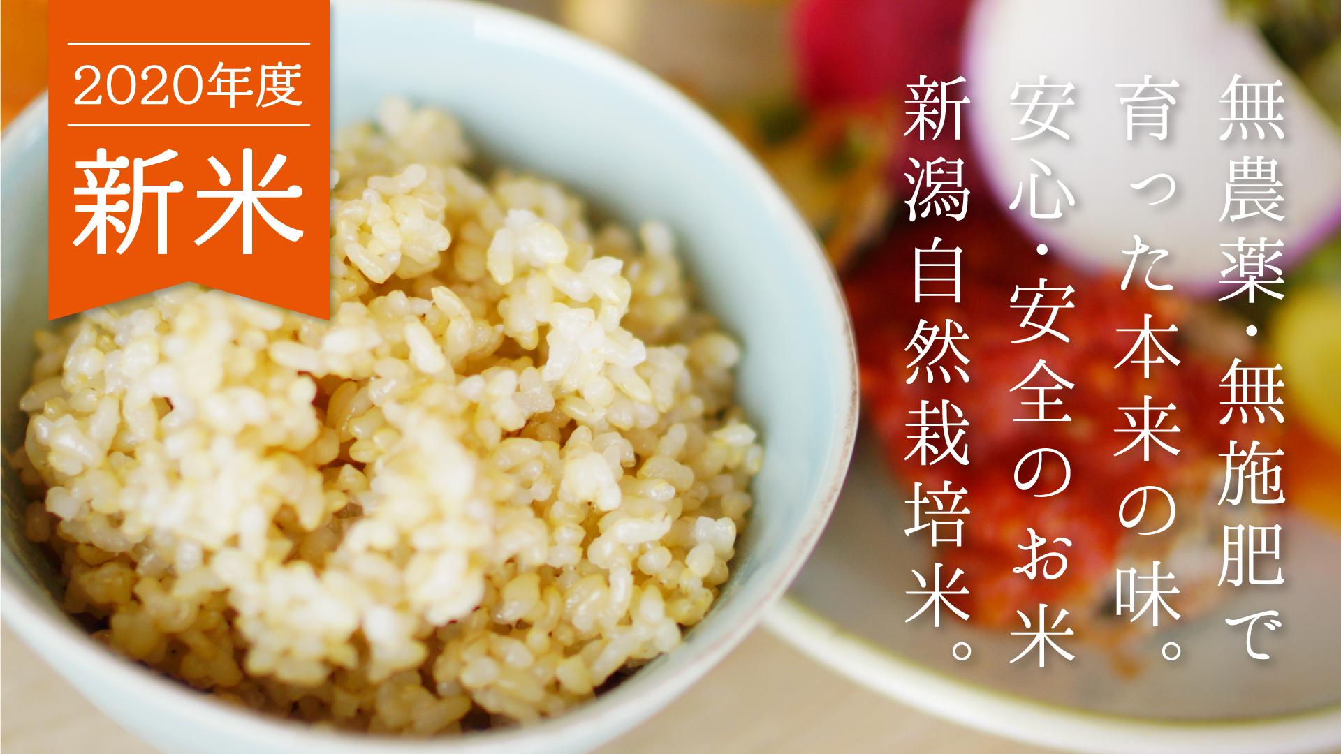 安心安全の新潟自然栽培米