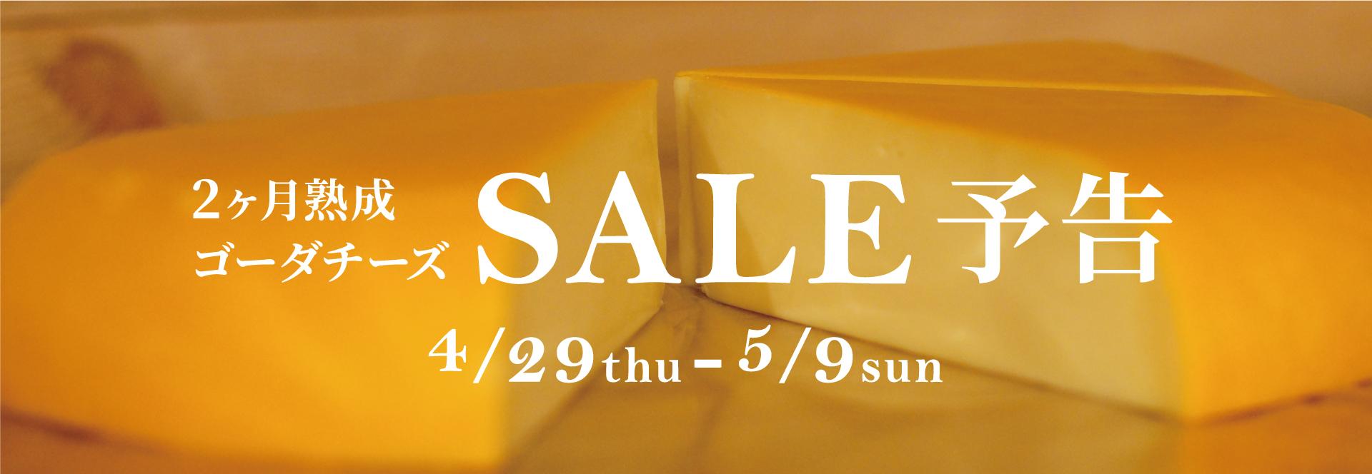 【SALE予告】GWゴーダチーズセール開催します!